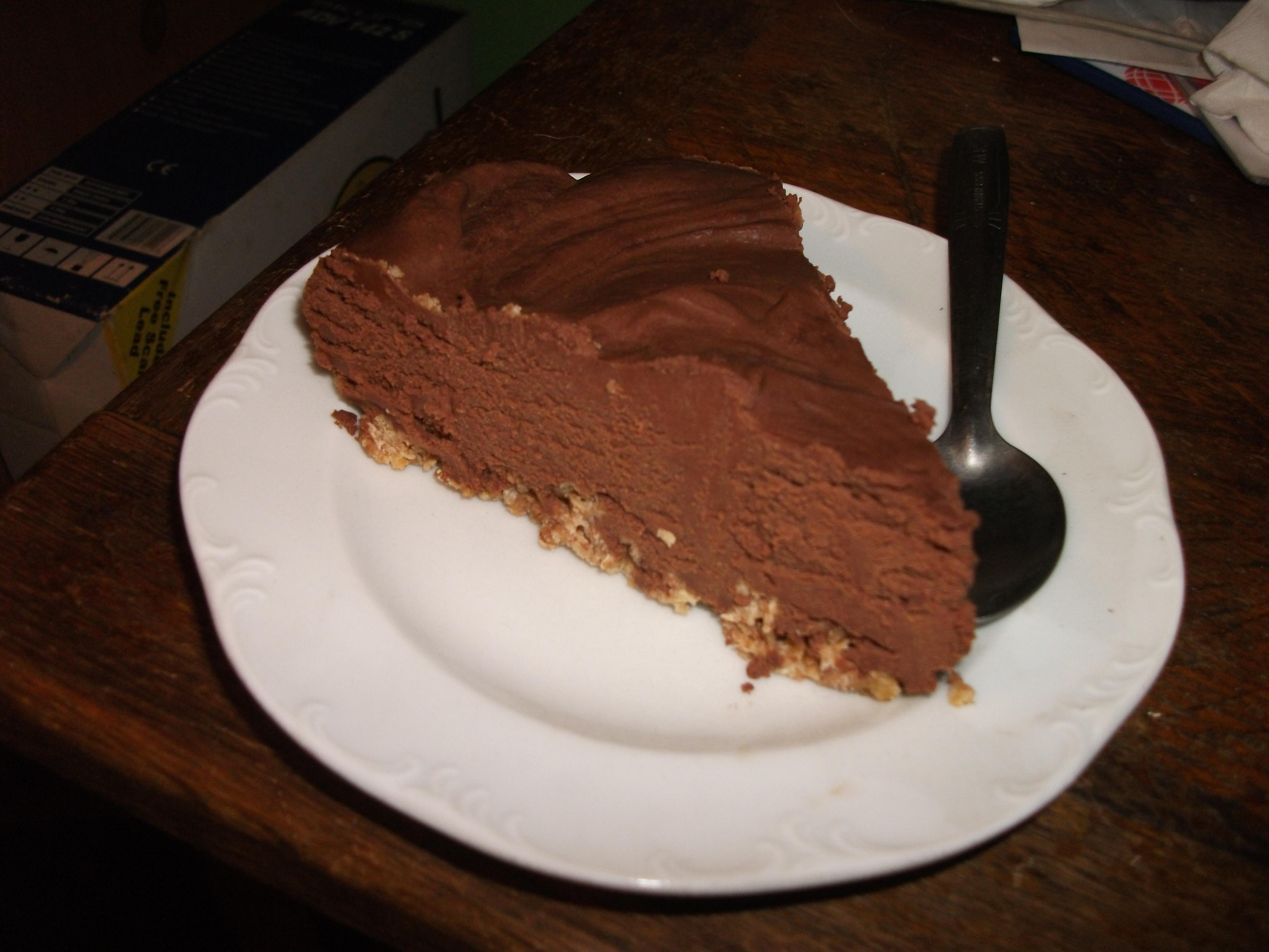 Chocolate and orange cheese cake - 27th November 2010