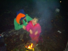 Making popcorn over the fire - December 2012