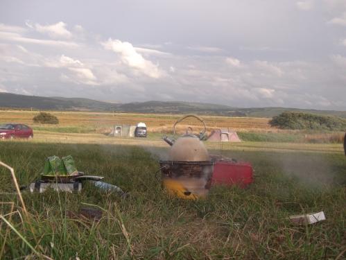 Campsite BBQ; August 2013
