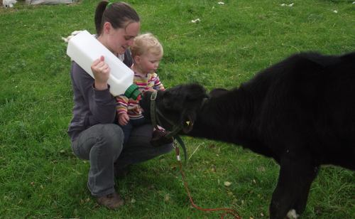 Bridie Moo; bottle time with my niece ~ June 2014